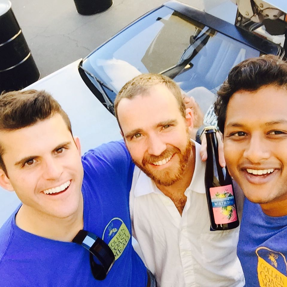 Golden Coast Mead Co-Founders: Joe Colangelo, Frank Golbeck, and Praveen Ramineni
