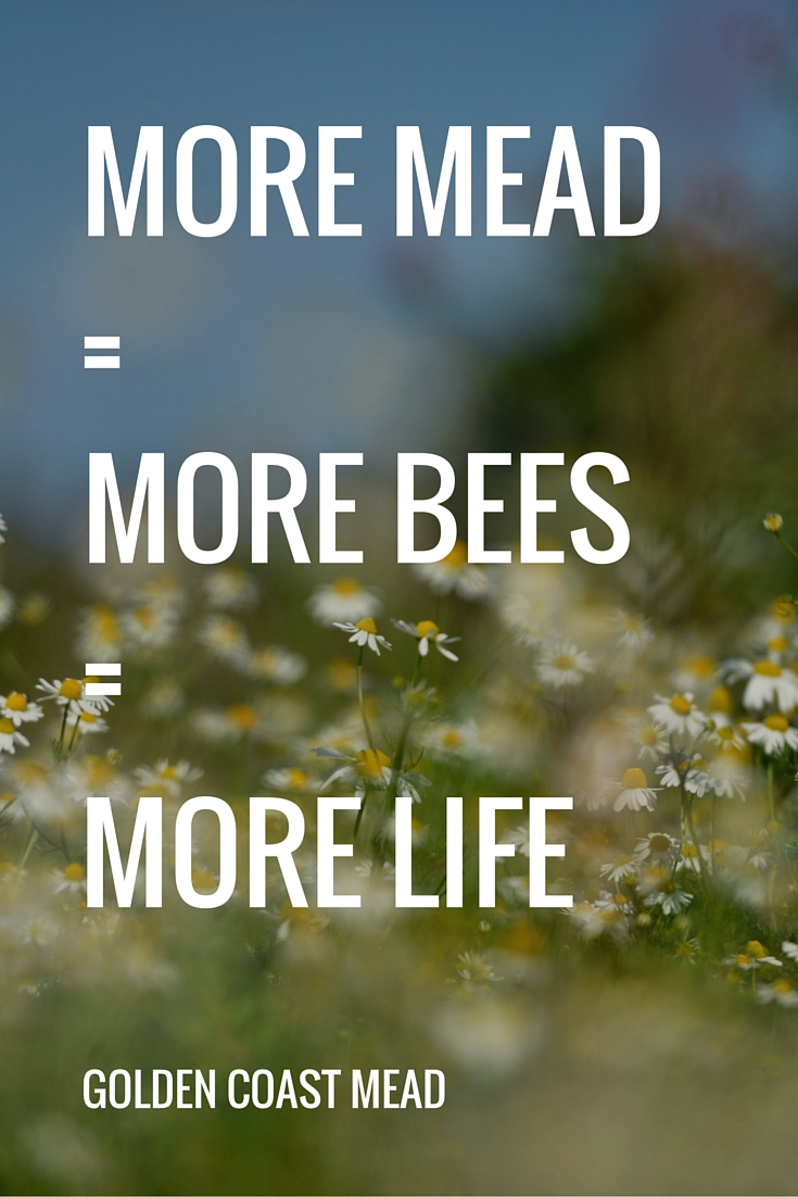 More Mead = More Bees = More Life |www.goldencoastmead.com