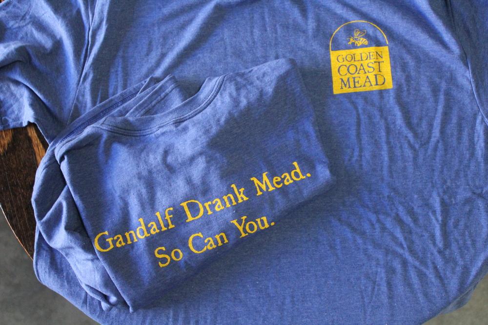 Gandalf drank mead. So can you! Organic cotton tshirts by Golden Coast Mead | www.goldencoastmead.com/tshirt