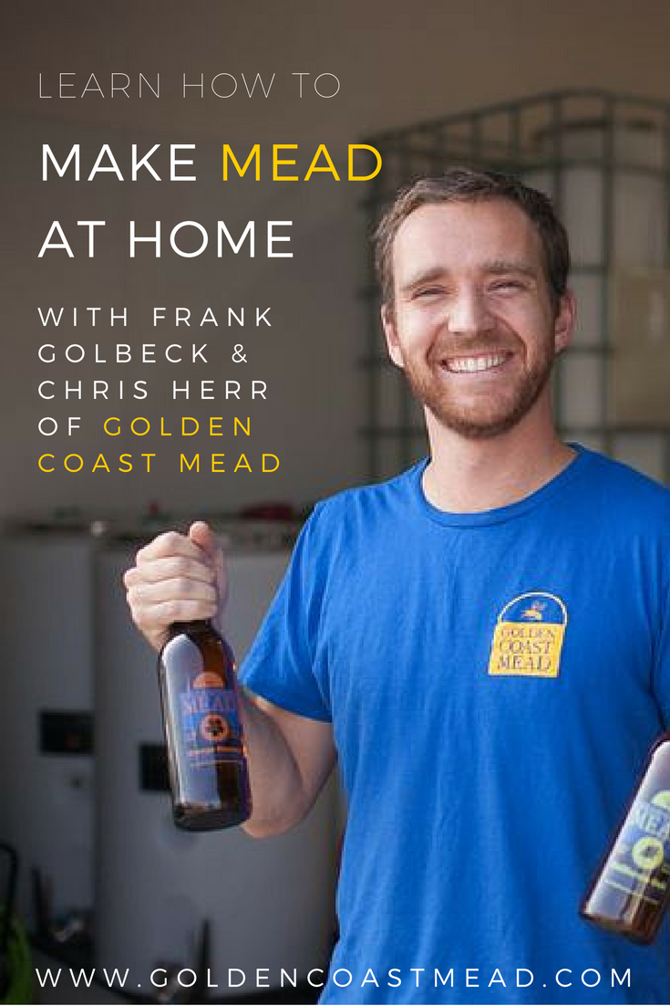 Learn how to make mead at home with the experts from Golden Coast Mead | http://meadmakingwithgcm.eventbrite.com #homebrew #savethebees #diy #sandiego