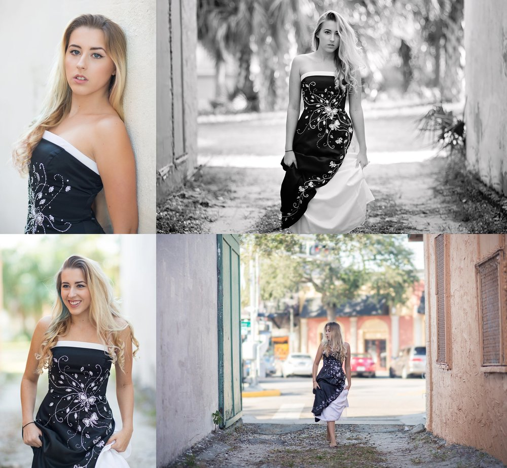 SENIOR PHOTOS | BLACK GOWN | MELBOURNE FLORIDA | NICHOLE MARIE