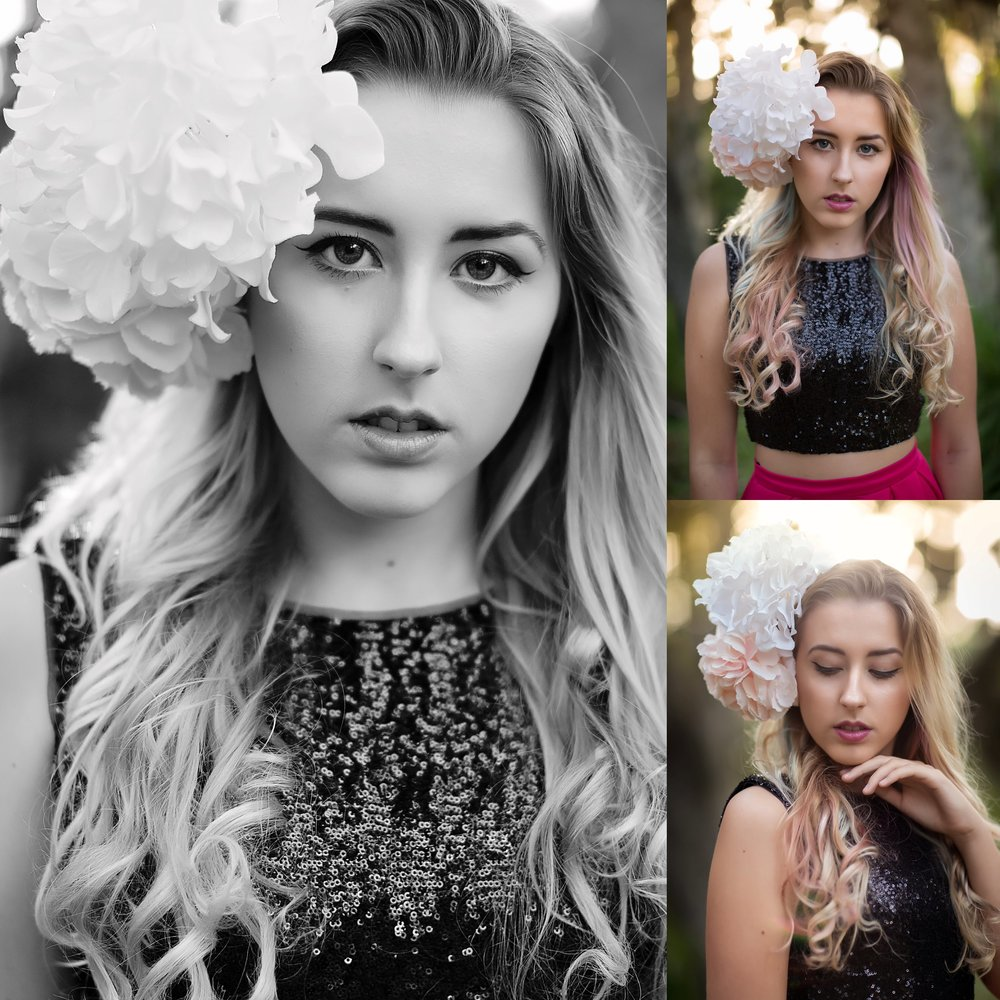 SENIOR PHOTOS WITH FLOWERS | SEBASTIAN, FLORIDA PHOTOGRAPHER | NICHOLE MARIE