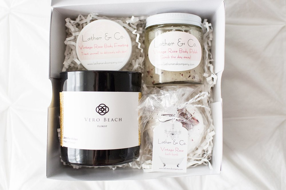 PAMPERING CLIENT GIFT SETS: THE BELLA BOX BY NICHOLE MARIE