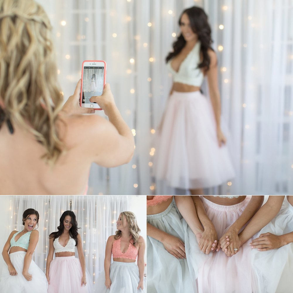 BACHELORETTE BOUDOIR PARTY | TULLE SKIRTS AND BRALETTES | VERO BEACH FLORIDA