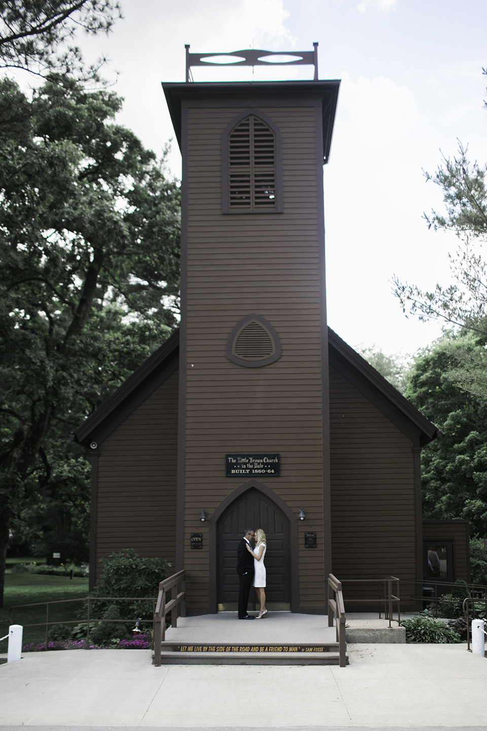 Wedding at the Little Brown Church In Nashua, IA
