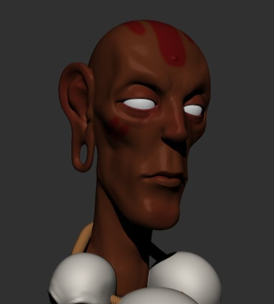 Sculpt of Dhalsim based on an older drawing I did. Someone liked the drawing on IG yesterday and I figured I'd make a model of it, now that I remember it exists.