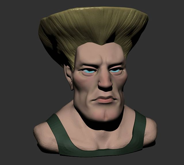Guile and his standard regulation military haircut