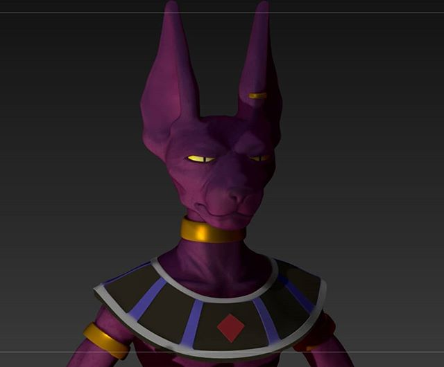Some Beerus before getting back to Street fighter busts.