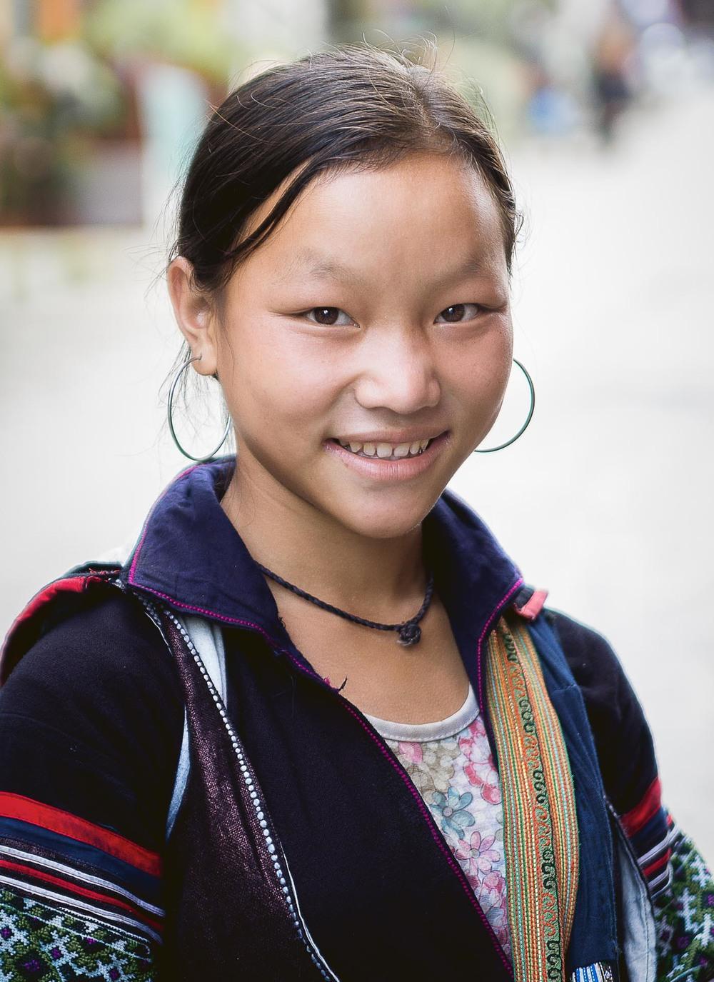Young Hmong girl in Sa Pa. Vientam