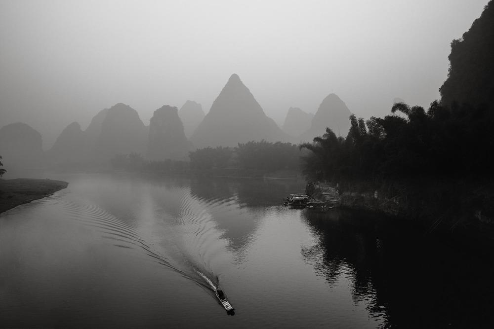 Sunrise on the Li River. China