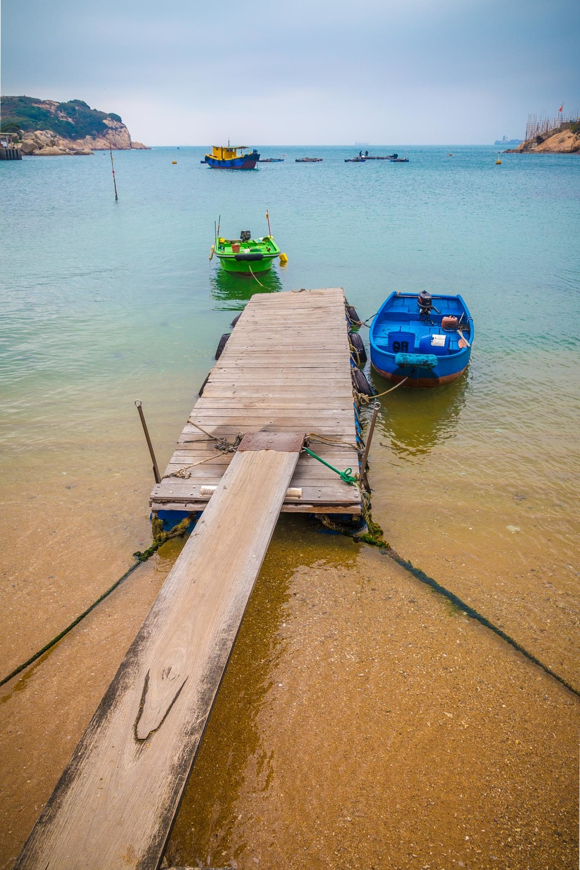 Dock on Po Toi island. Hong Kong