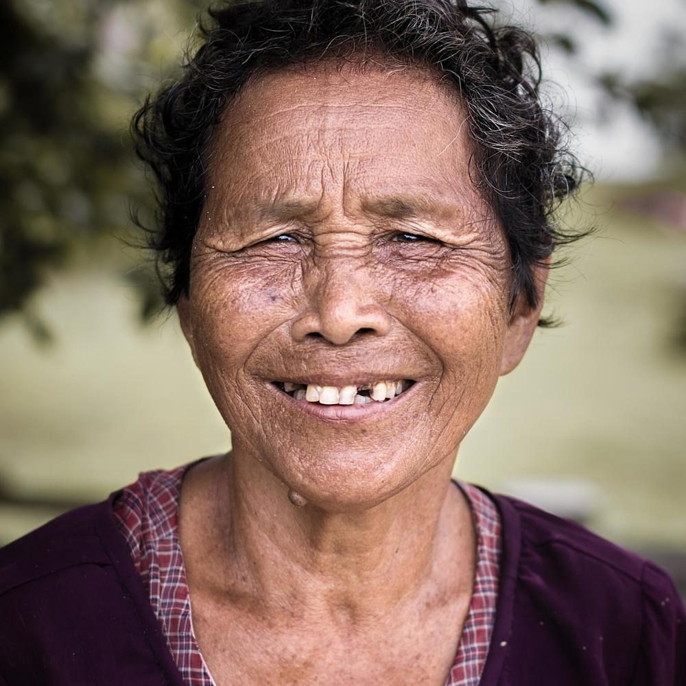 Elderly Khmer lady in Kratie. Cambodia