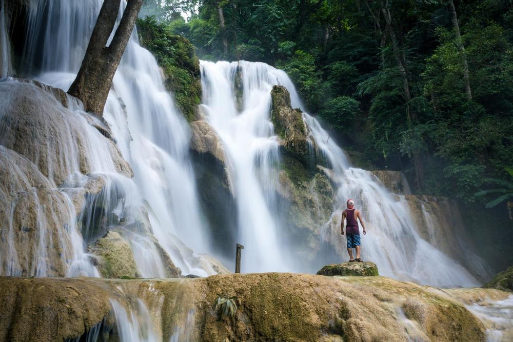 Kuang Si falls in Laos.