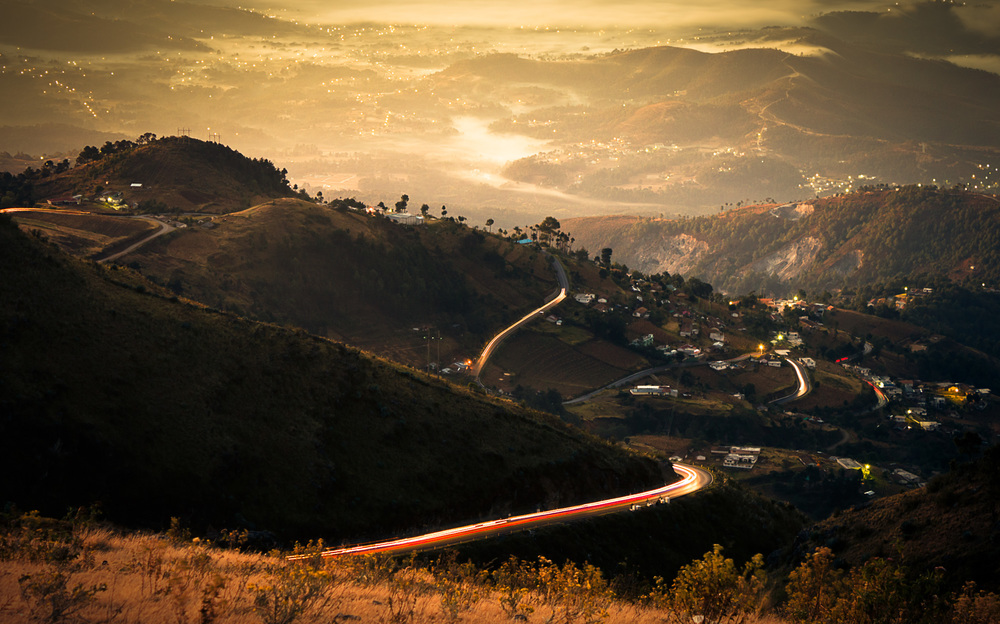 Sunrise from the Cuchumatanes mountain range. Guatemala