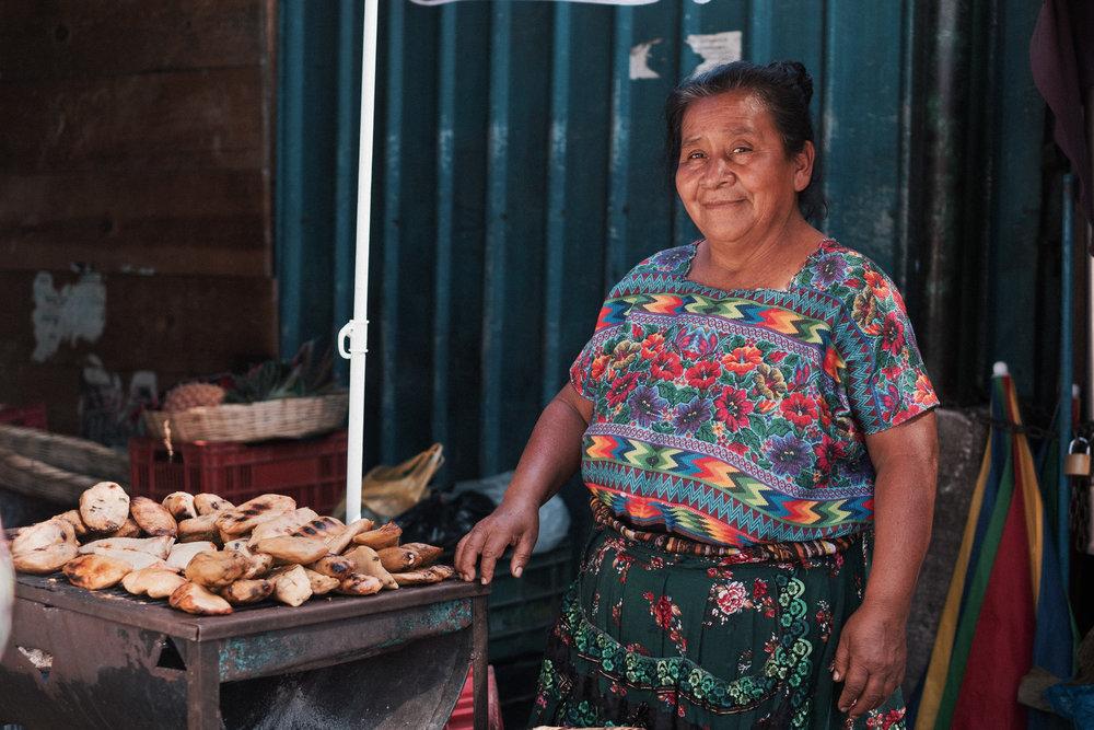 Doña Adela selling chuchitos at La Terminal