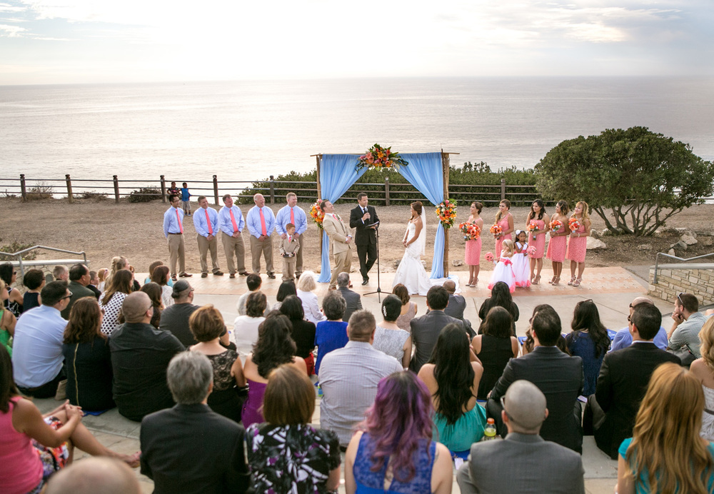 Beautiful Point Vicente Ocean view ceremony