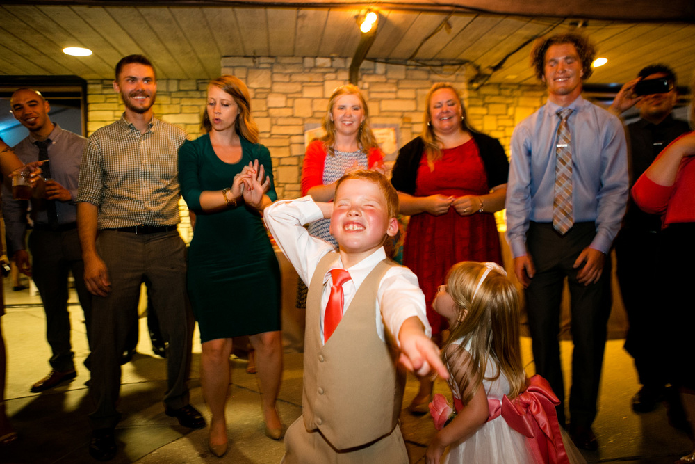 Ring Bearer showing off the moves on the dance floor