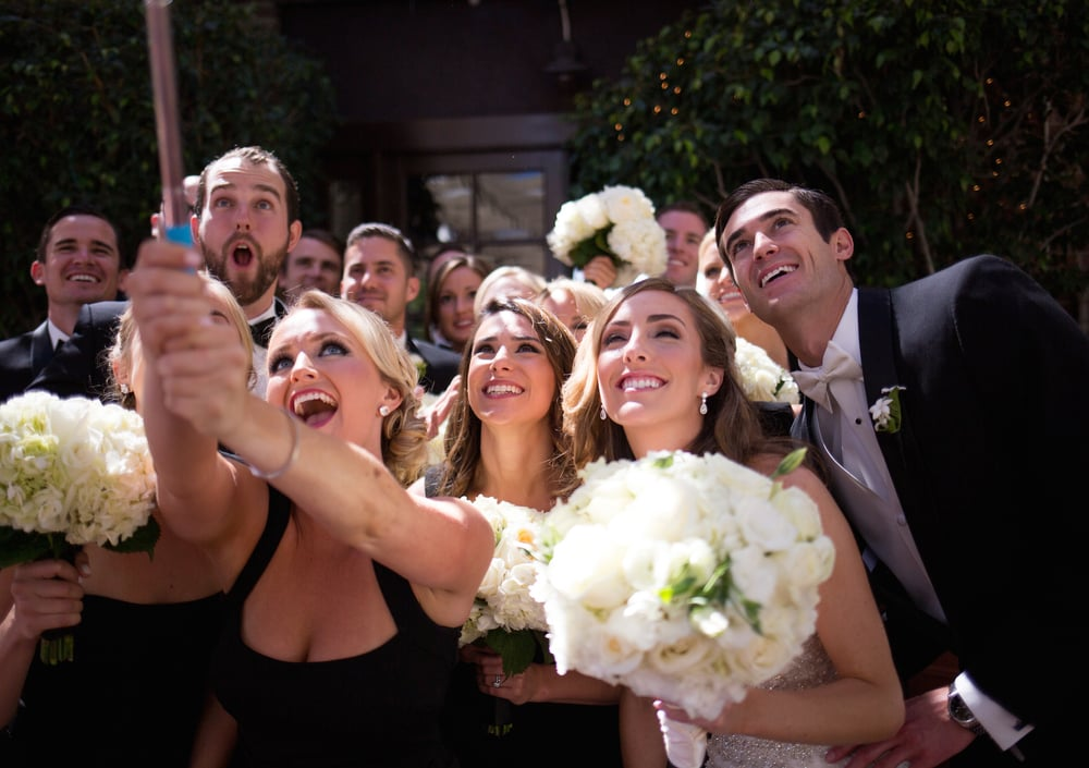 Downtown LA Bridal Party Selfie