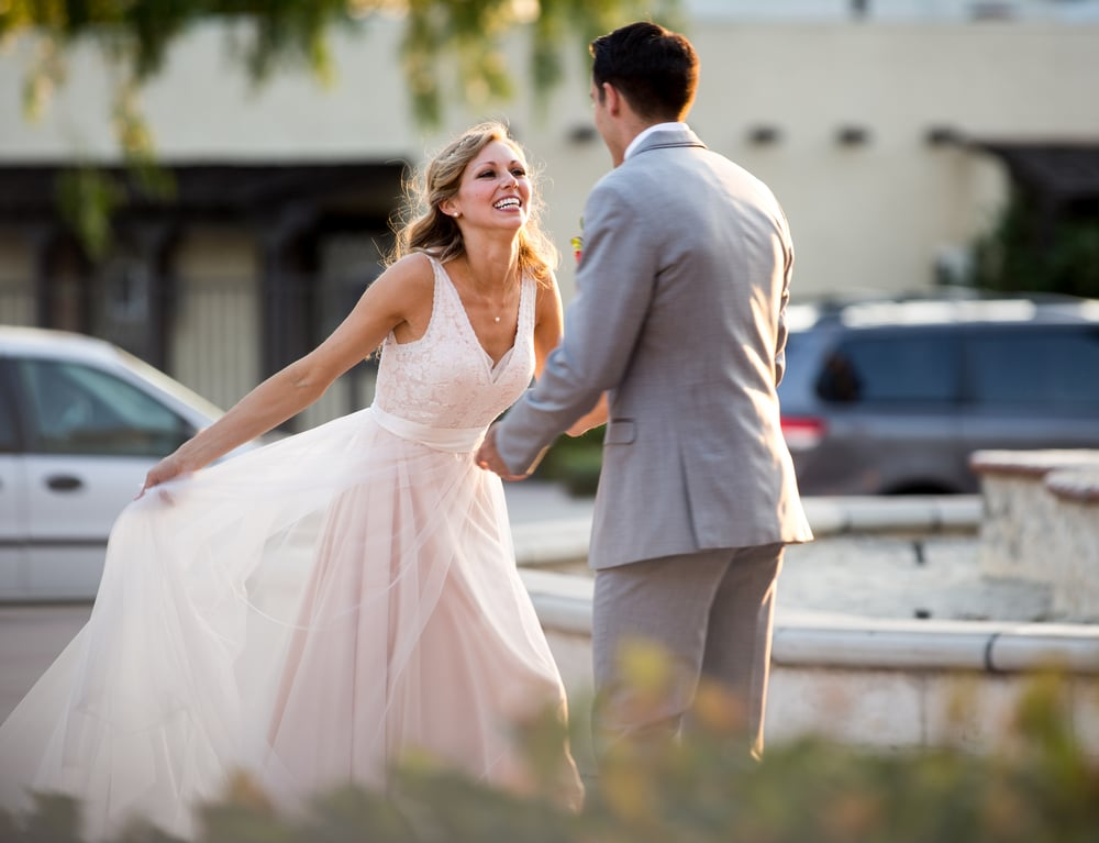 Bride Twirling Princess Dress