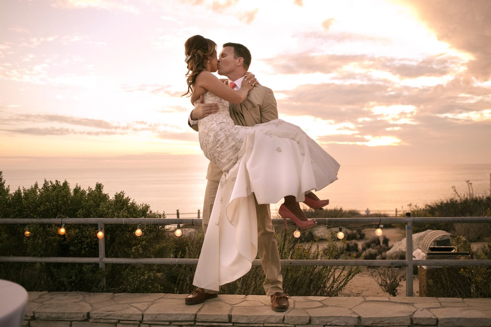 Palos Verdes Wedding Couple Sunset Point Vicente Interpretive Center
