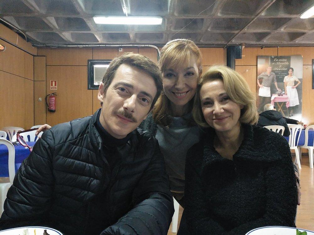 En la imagen, junto a Víctor Clavijo y Sonia Almarcha.