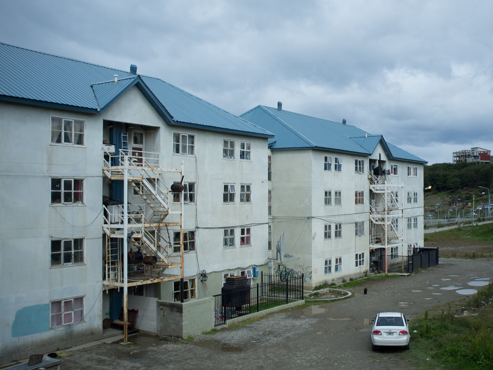 Council housing in '640' district. 'Barrio 640' is one of the oldest district in the whole town.