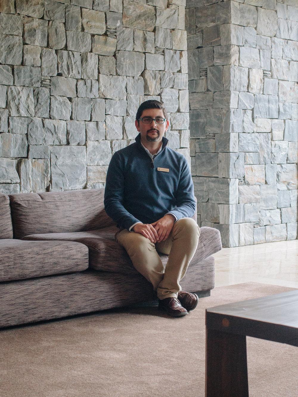 Nicolas Garcia, Rooms Division Manager at 'Arakur' hotel.