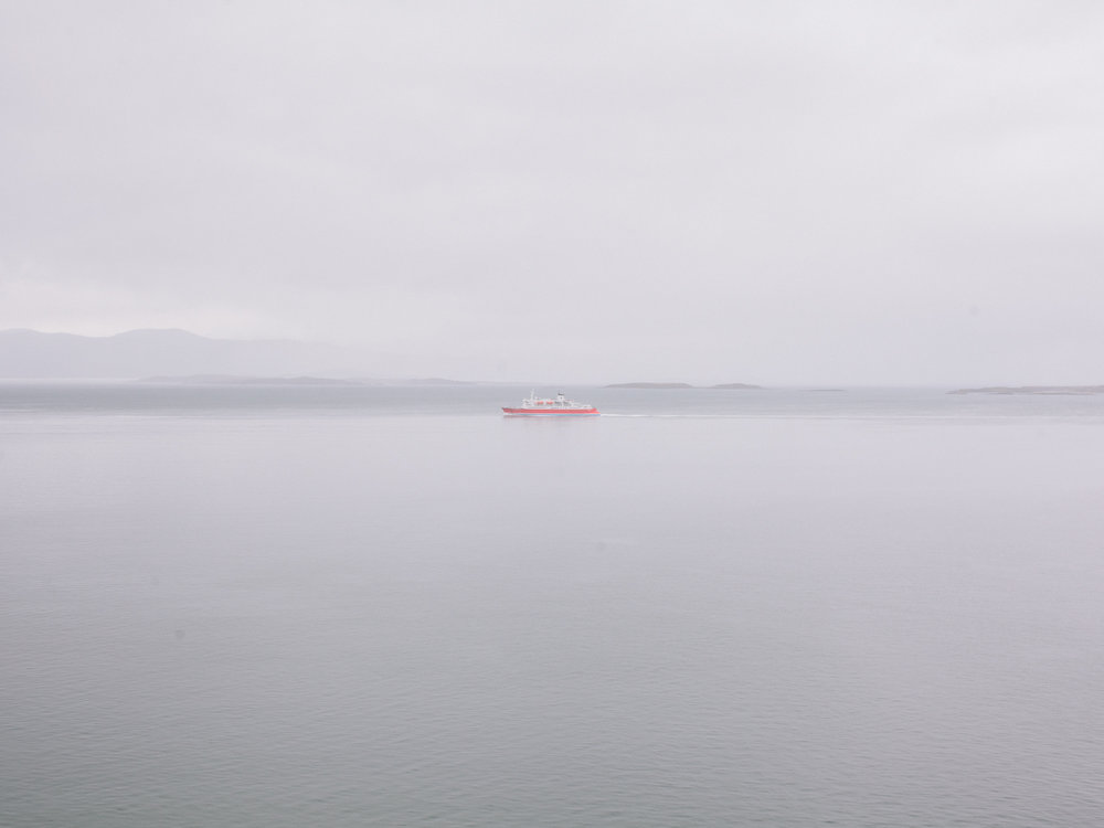 One of the many touristic ferry sailing across the Beagle Channel.