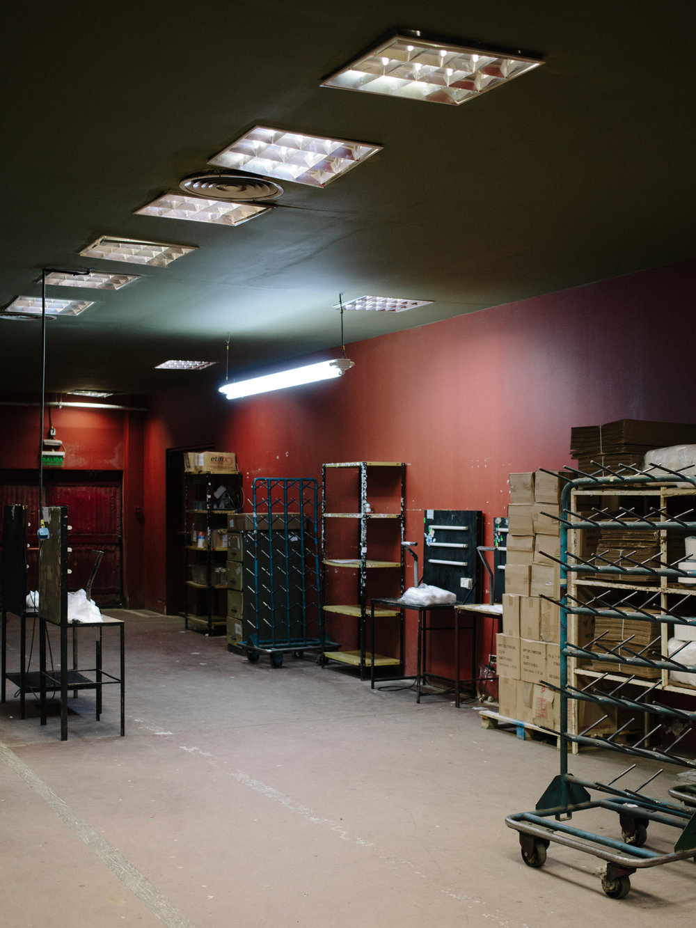 An interior of ' Hilanderia Fueguina '. Founded in 1984 it's the only textile factory in Ushuaia. It works all year around 24/7 producing textile reels for the clothes factories in the north of the country.