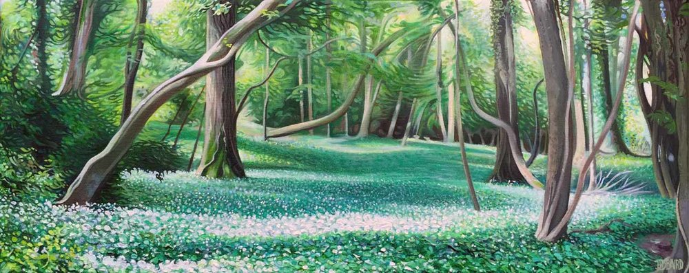 Garlic Grove - Oil on canvas20cm x 50cmSOLD