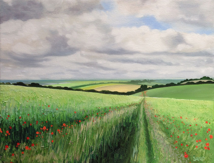 The Poppy Track - Oil on canvas30cm x 40cmSOLD