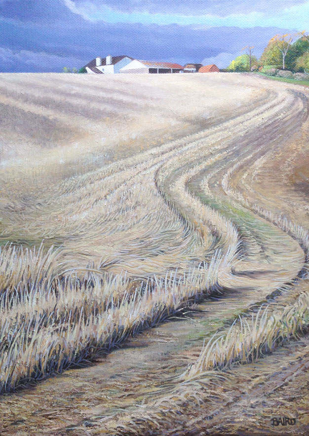 The Stubble Tracks - Oil on canvas35.5cm x 25.5cmSOLD