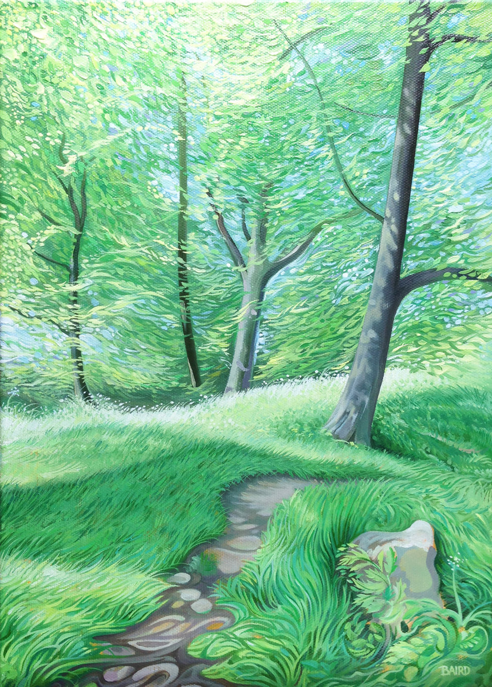 Woodland Breeze - Price on applicationOil on canvas25.5cm x 35.5cmFramed
