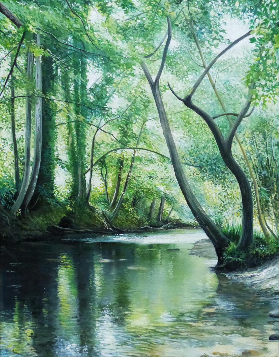 The Water Grove - Oil on canvas45.5cm x 35.5cmSOLD