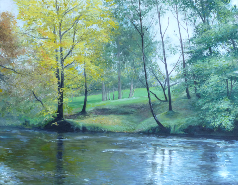 Autumn on the Riverside - Oil on canvas35.5cm x 45.5cmSOLD