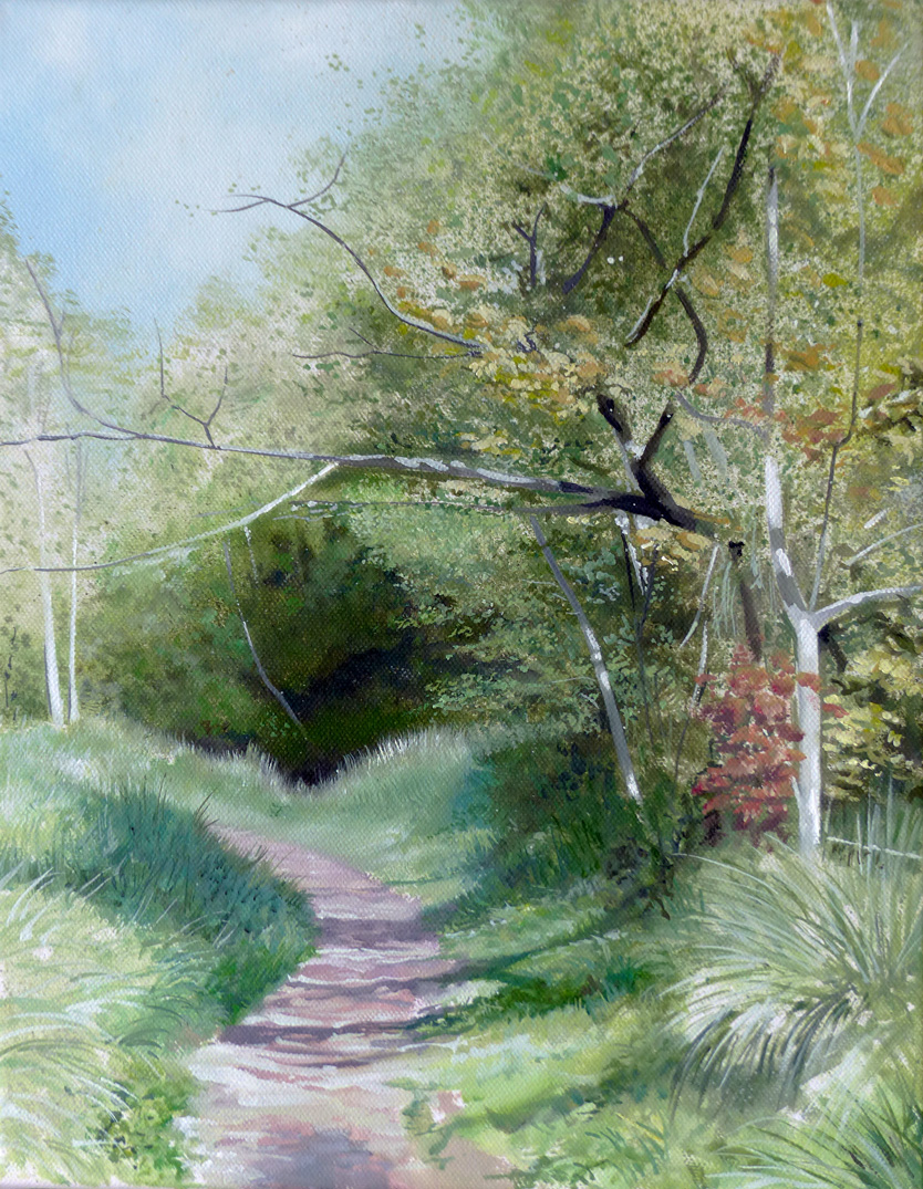 The Riverpath 1 - Oil on canvas35.5cm x 25.5cmSOLD