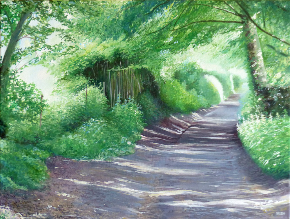 Green Lane - Oil on canvas35.5cm x 45.5cmSOLD