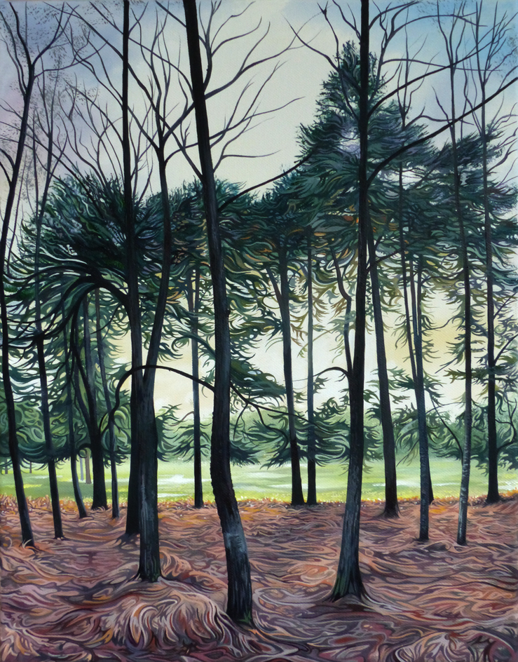 Sunset through the Pines - Price on applicationOil on canvas45.5cm x 35.5cmFramed