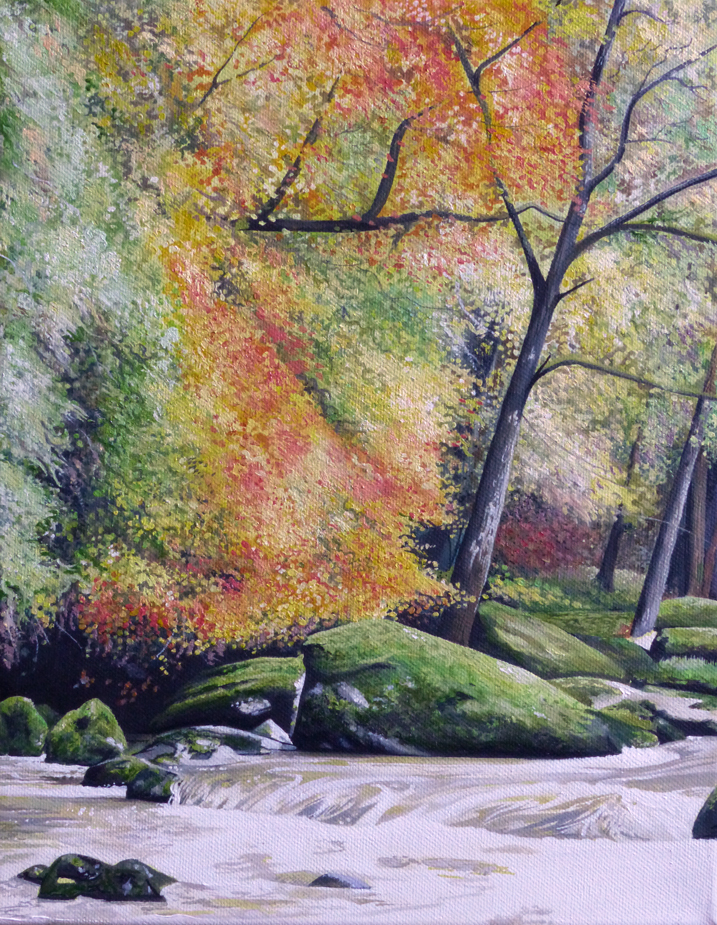Autumn Riverside - Price on application35.5cm x 45.5cmOil on canvasUnframed