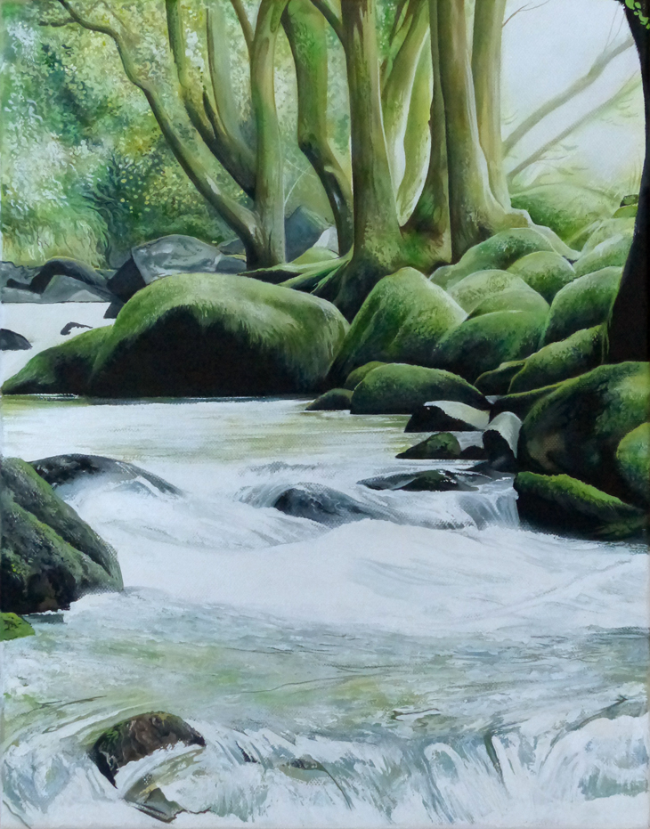 Moss Rocks - Price on applicationOil on canvas35.5cm x 45.5cm