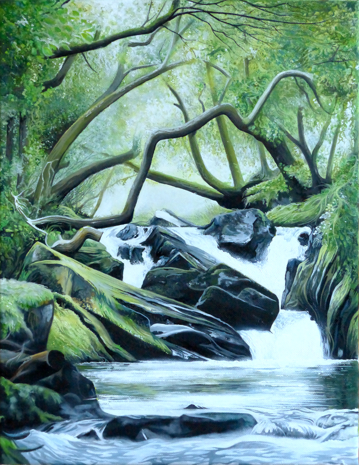 Where the Water Falls - Oil on canvas45.5cm x 35.5cmSOLD