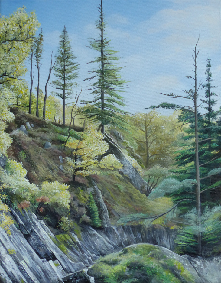 The Gorge - Price on application45.5cm x 35.5cmOil on canvas