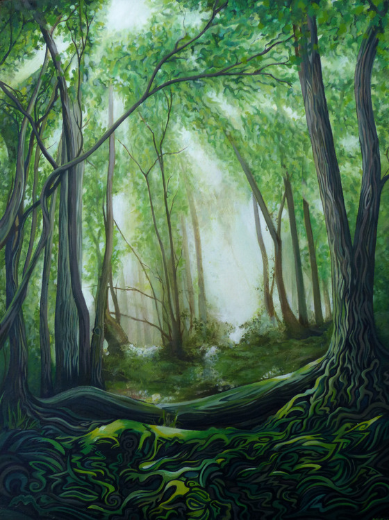Devon Glade - Oil on canvasSOLD