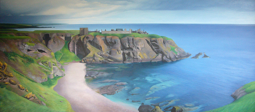The Bay at at Dunottar Castle - (Commission)