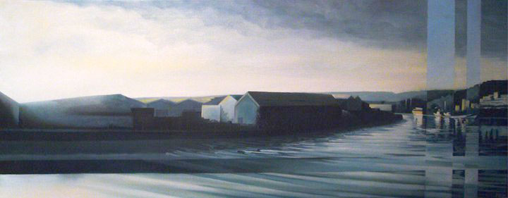 Last Light at Hotwells - Oil on canvasSOLD