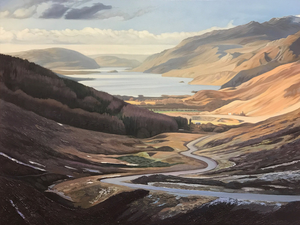 The Road to Loch Torridon - Price on applicationOil on canvas45.6cm x 60.8cmFramed