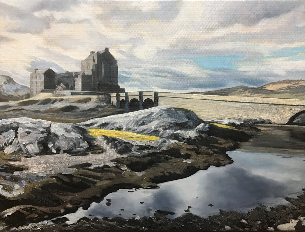 Eilean Donan Castle - Price on applicationOil on canvas30.5cm x 40.6cmFramed