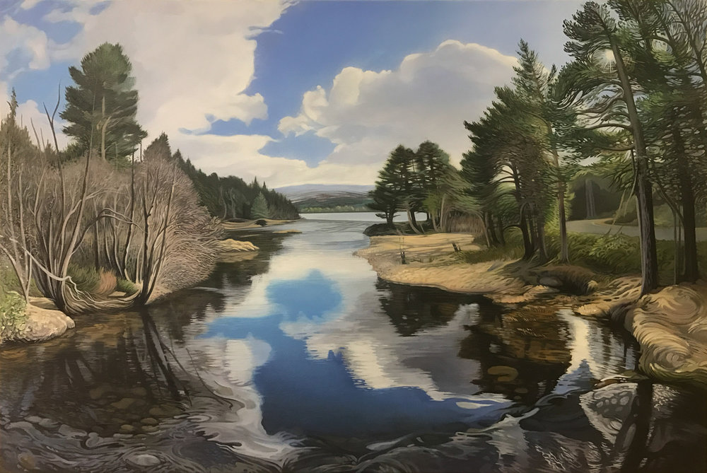 Loch Morlich, Glenmore. - Price on applicationOil on canvas60.8cm x 91cmFramed