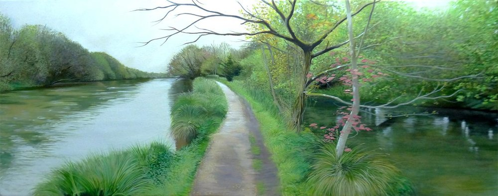 Grey Day at the Itchen - Oil on canvas45cm x 90cmSOLD