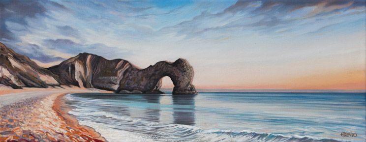 Durdle Door Panoramic - Price on applicationOil on canvas19.5cm x 50cmFramed